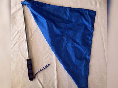 Retractable Pocket Flag - 160cm BLUE