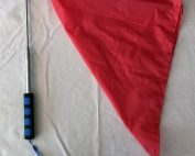 Retractable Pocket Flag - 160cm RED