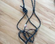Rope Halter - X Large - Black with Blue