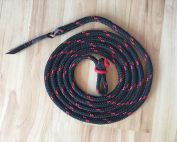 Lead Rope 12' Black & Red - button knot