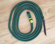 Lead Rope 12' Green - button knot